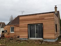 extension bois côté cours, extension bois maison ville, extension bois contemporaine